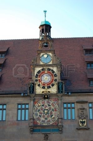 Astronomical Clock Of Town Hall - Heilbronn, Germany Stock Photo ...