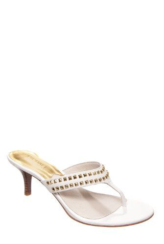MICHAEL Michael Kors Alexi Thong Low Heel Mule Sandal  Optic White  size 55 -- Continue to the product at the image link.(This is an Amazon affiliate link and I receive a commission for the sales)