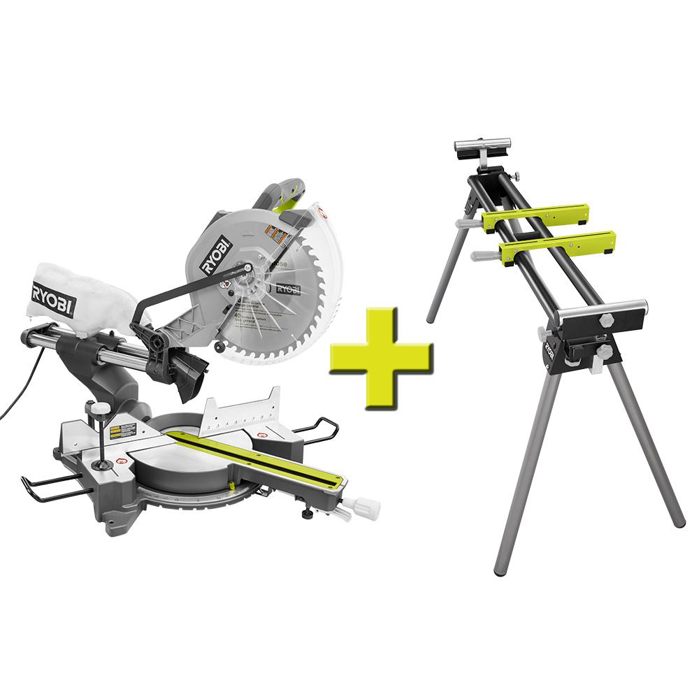 12 In Dual Bevel Sliding Compound Miter Saw With Led Laser Guide Sliding Compound Miter Saw Miter Saw Compound Mitre Saw