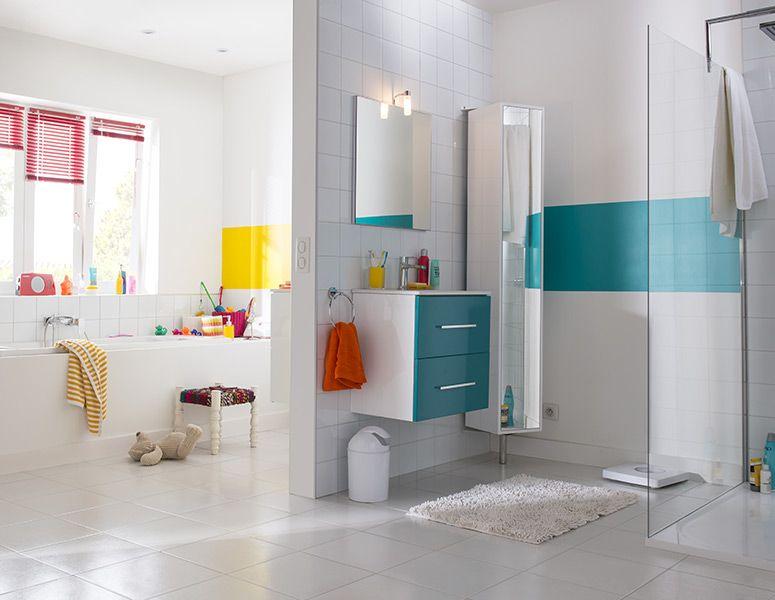 meuble salle de bain bleu castorama