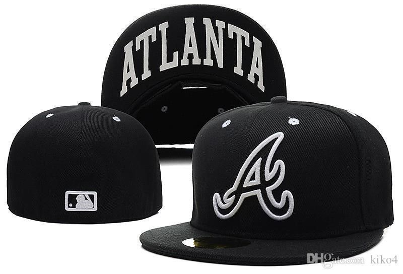 2017 Newest Fashion Hip Hop Atlanta Braves Snapback Medium Raised Embroidery Letter Fitted Hat Structured Classic Crown Fitted Hats Fitted Hats Men Brixton Hat