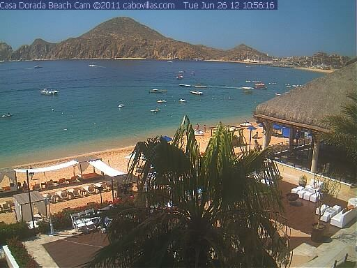 Live Webcam View Overlooking Medano Beach And Lands End From Casa Dorada Beach Resort In Cabo San Lucas