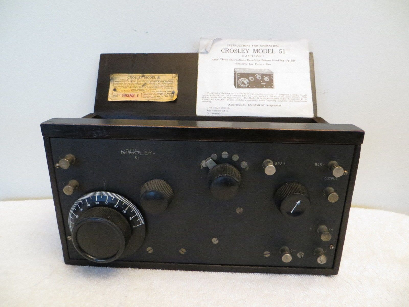 S HISTORICAL CROSLEY OLD MARCONI ERA PRE DEPRESSION RADIO eBay