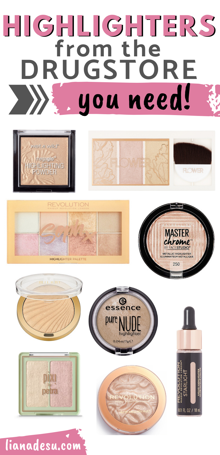 Best Drugstore Highlighters You Must Try Liana Desu In 2020 Best Drug Store Highlighter Drugstore Highlighter Drugstore Makeup Brands