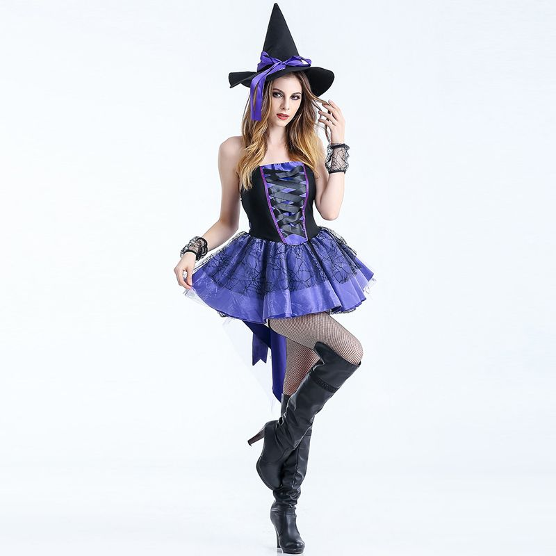 S-XXL New Sexy Purple Woman Witch For Halloween Costume Devil Fancy Dress Carnival Party Club Magican Adult Cosplay Clothing  sc 1 st  Pinterest : xxl costumes  - Germanpascual.Com