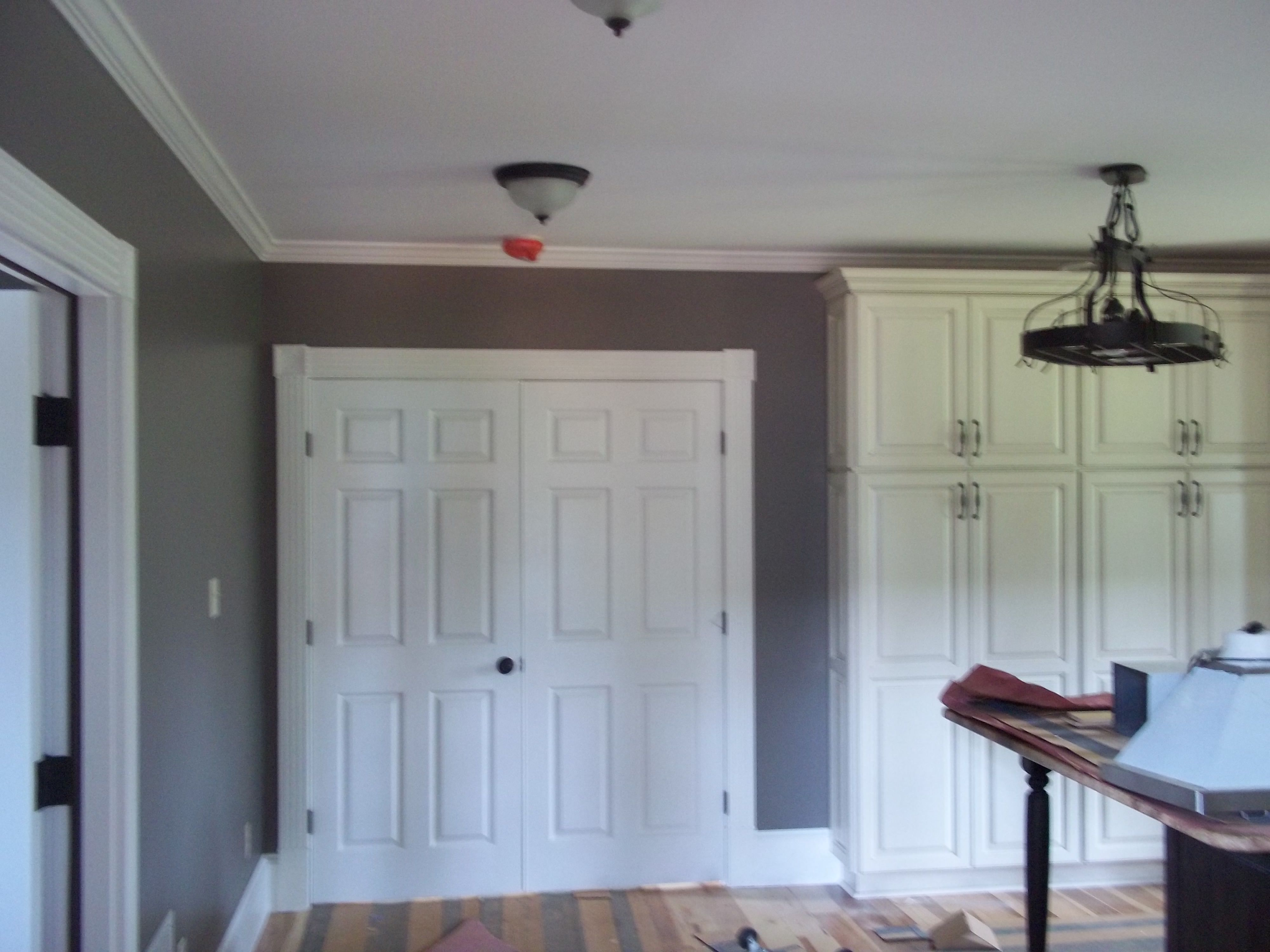 Nice Cabin Interior Kitchen   Wall Color (Mountain Smoke), Ceilings (SW  Brilliance)