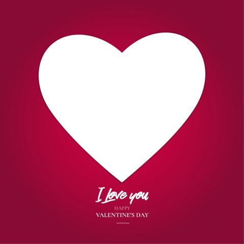 Valentine S Day Frame Free Png With I Love You Text Love Yourself Text I Love You Text Text On Photo