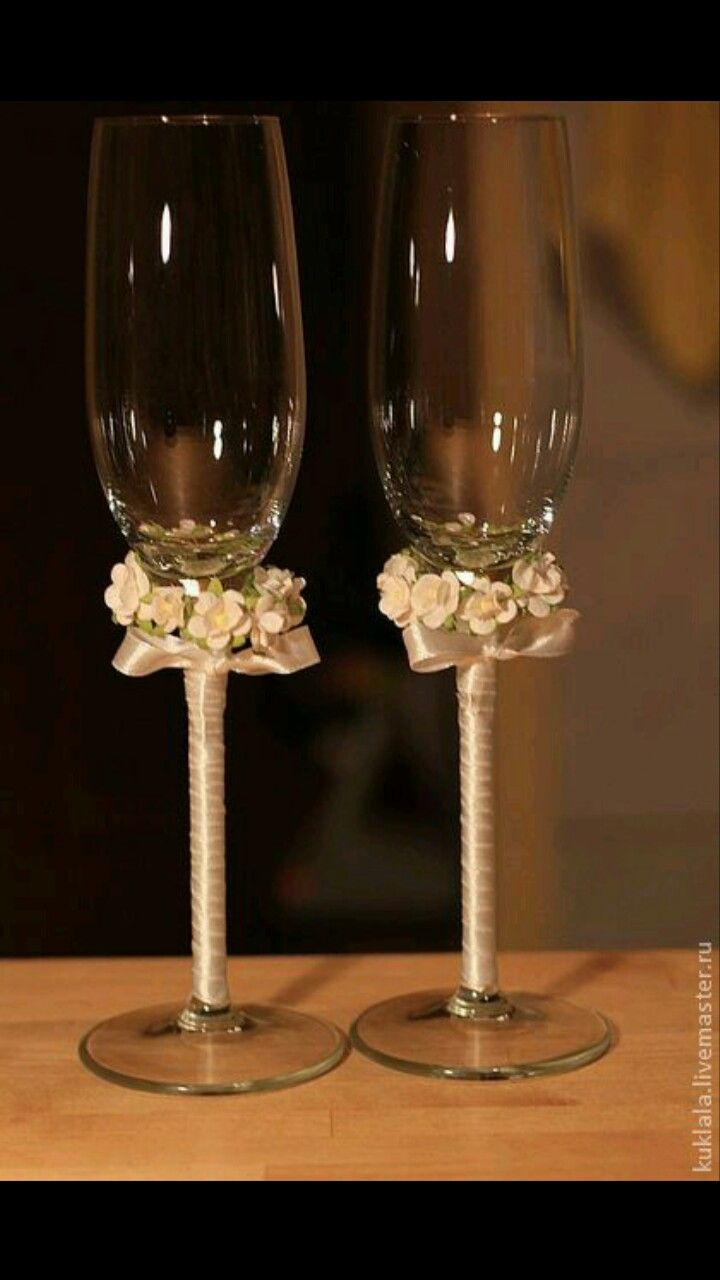 Pin by rubi na on wedding decor pinterest crafts and wedding wine glass crafts wedding glasses wedding accessories miri champagne glasses toasting flutes altered bottles wedding card wedding decor junglespirit Images