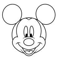 desenho de cabeça do mickey mouse para colorir documentos pinterest