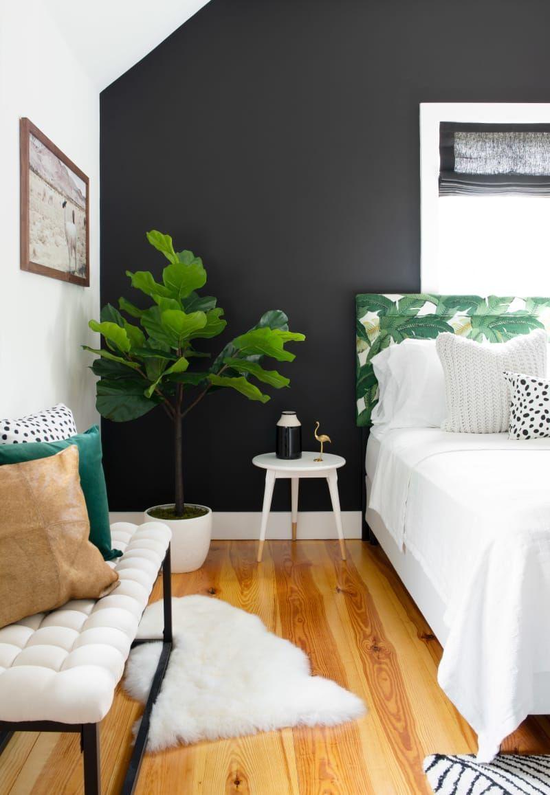 Modern Glam Design Newport Home Tour Black Walls Bedroom Black