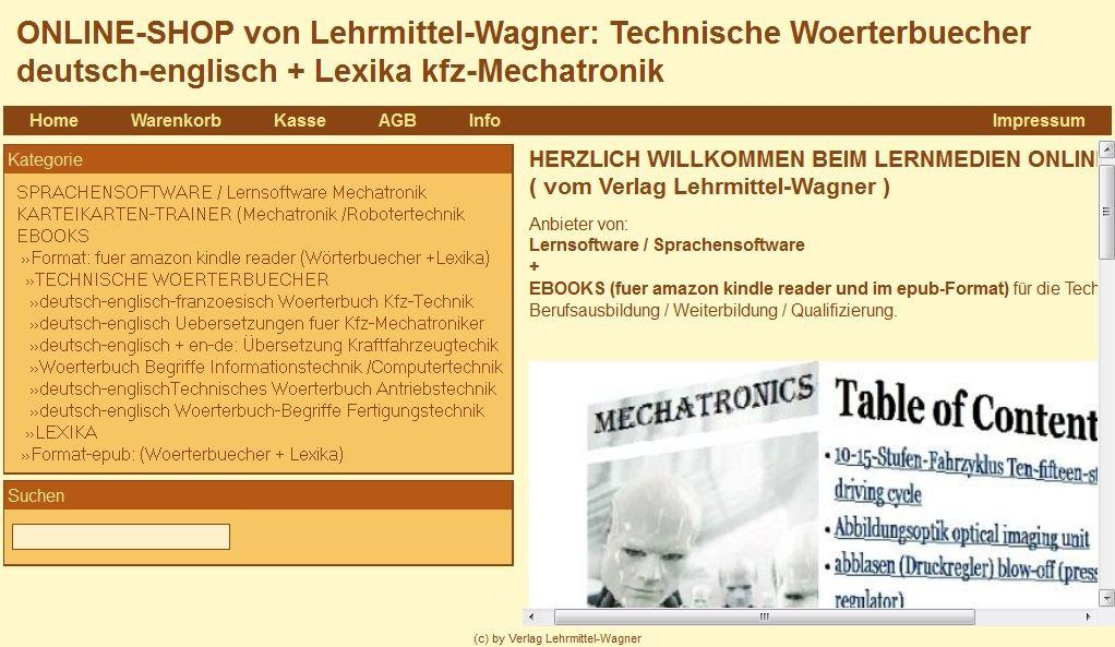 NEUER ONLINE-SHOP: Sprachensoftware Technische Woerterbuecher kfz ...