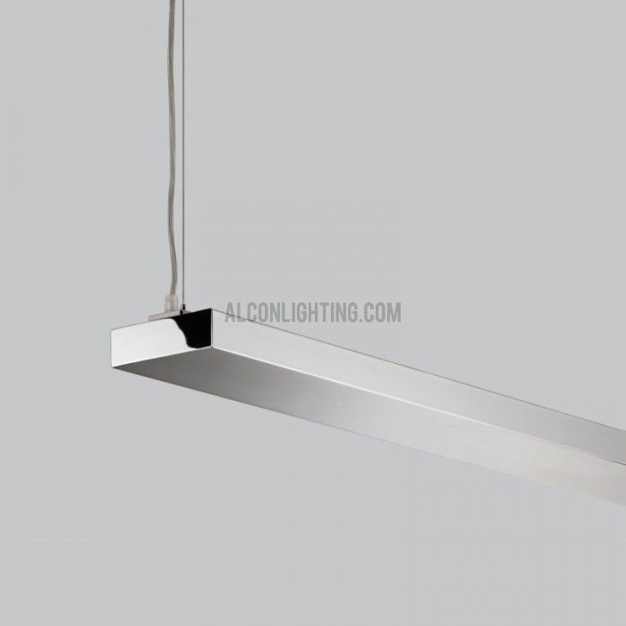 Alcon Lighting Dusk Chrome Architectural Suspended Linear Led Direct Indirect Office Fixture Alconlighting