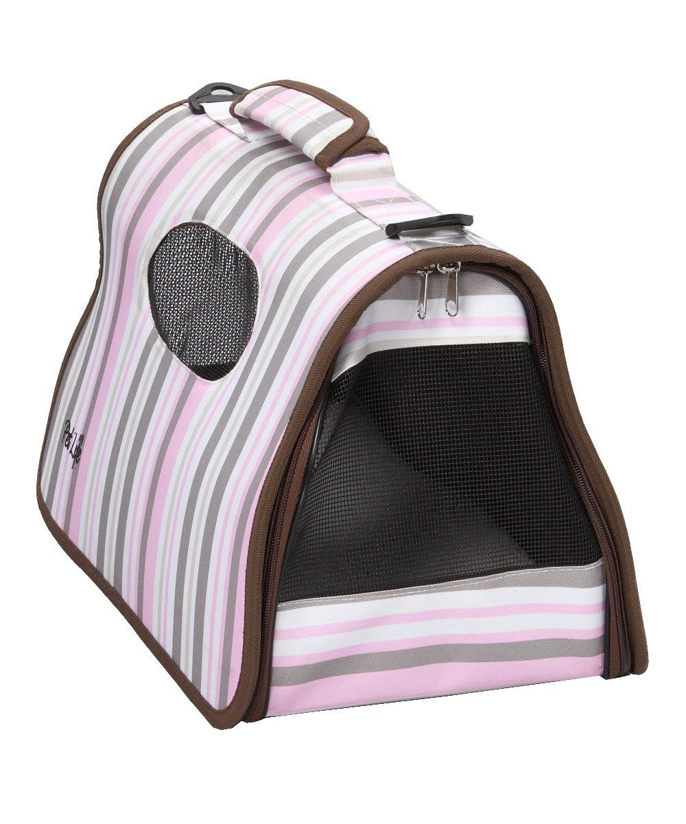 Pet Life Folding Cage Striped Pet Carrier * For more information, visit image link.