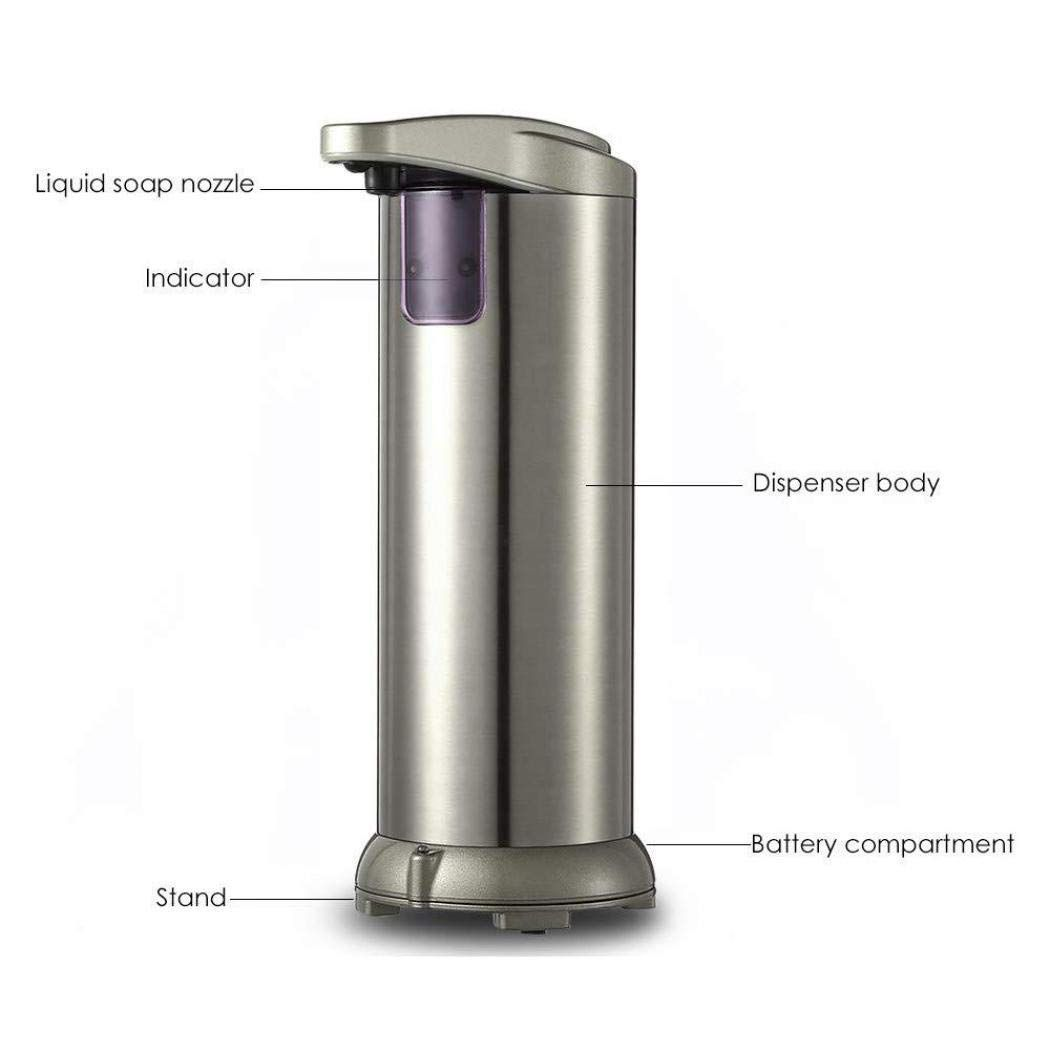 Touchless High Capacity Automatic Foaming Soap Dispenser Equipped w//Infrared Motion Sensor Waterproof Base Suitable for Bathroom Kitchen Hotel Restaurant Automatic Soap Dispenser