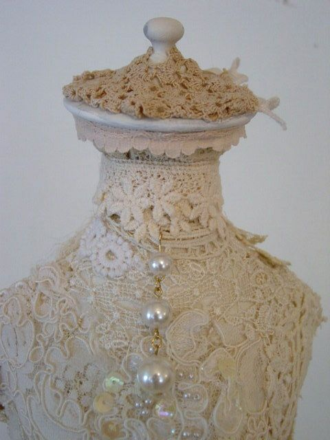 Lace dress form by Vintage Dragonfly