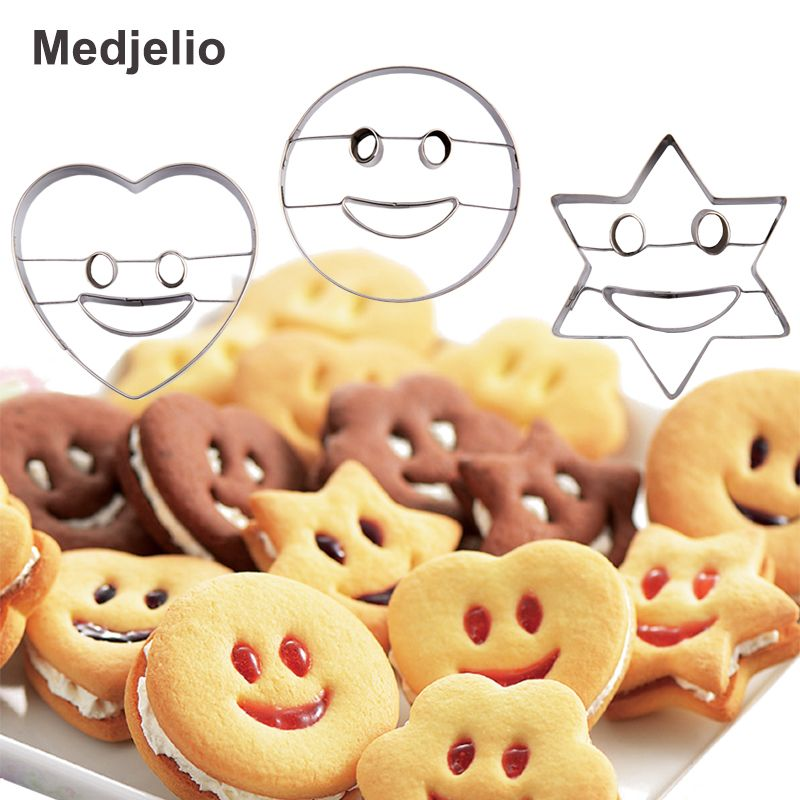 Rose Red Gingerbread Man Fondant Cake Mold Cookie Stamps Cutters DIY Tool Decor
