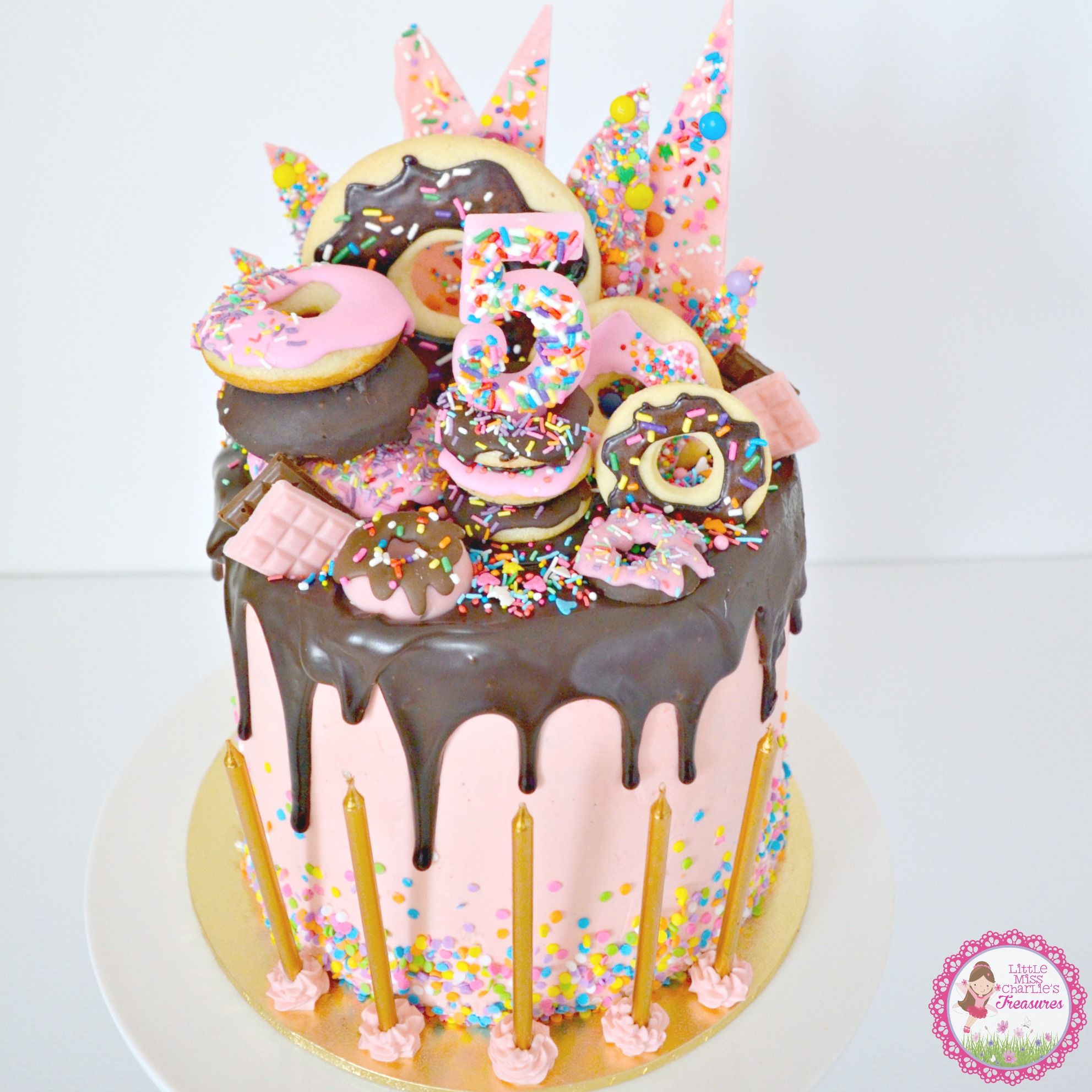 Donut & Sprinkles Birthday Cake - layers of chocolate ...