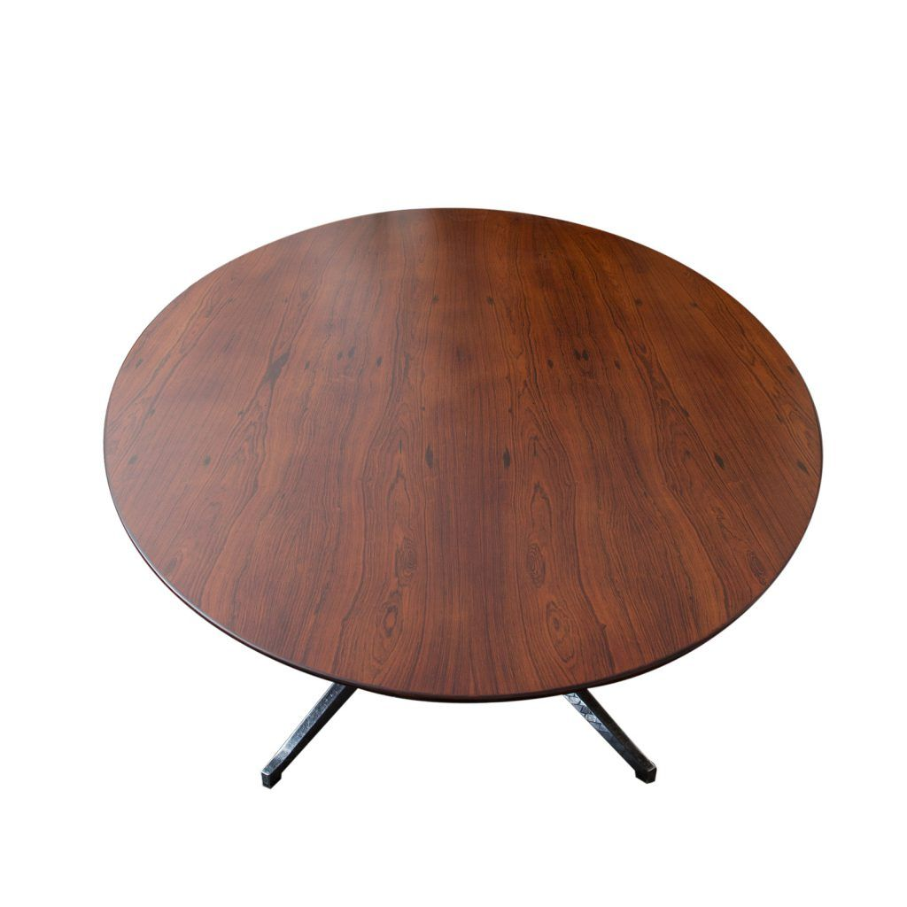 Florence Knoll Rosewood Oval Dining Table On Chrome Base U2013 ReGeneration
