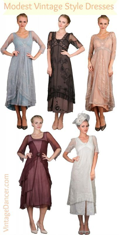 056933d283 1910s to 1920s modest vintage dresses by Nataya. Find more modest brands to  shop from at VintageDancer.com