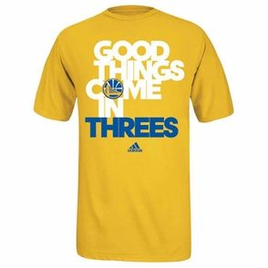 Golden State Warriors adidas Good Things Come In Threes Tee - Gold � Stephen  Curry ClothingStephen ...