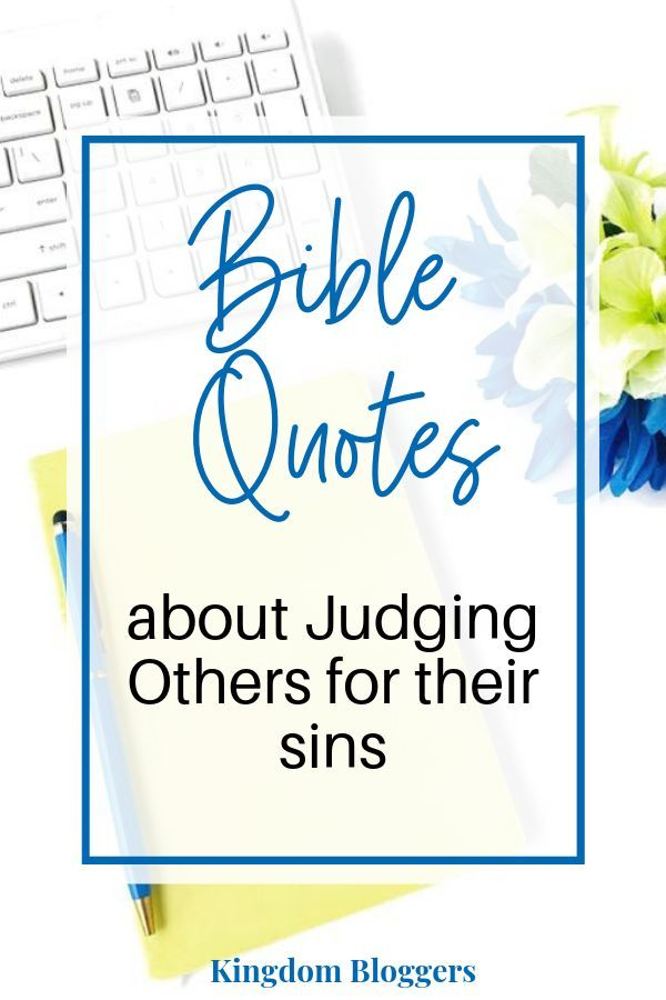 What Does the Bible Say About Judging Others | Bible ...