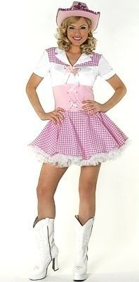 Dolly Parton Cowgirl Fancy Dress Costume & Hat UK 8-10 by ...