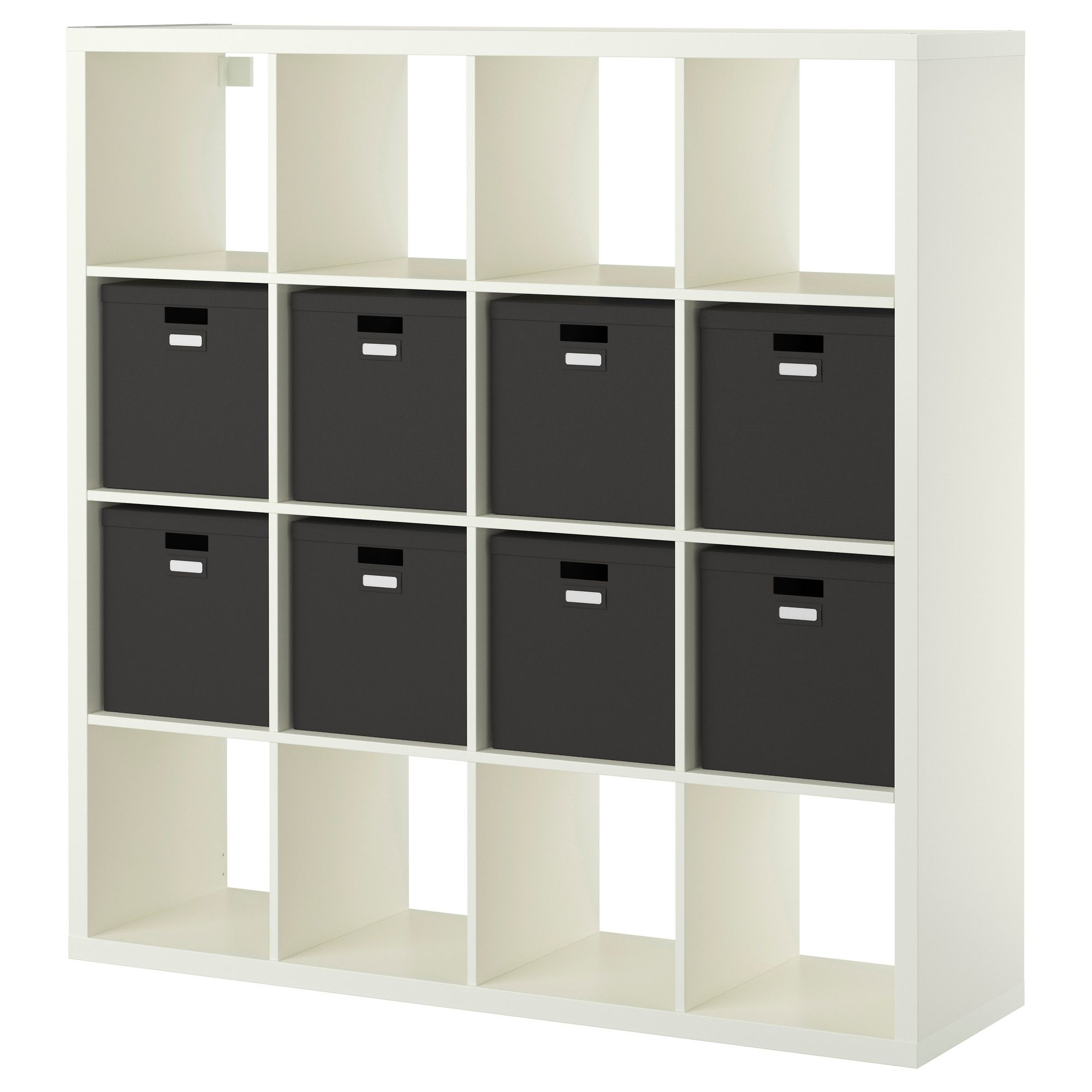 Ikea Kallax Tjena Shelf Unit With 8 Inserts White  # Etagere Ikea Kallax