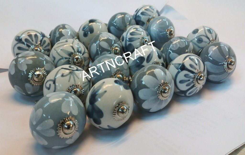 jgarts 20 grey white cream ceramic pottery door knobs cabinet