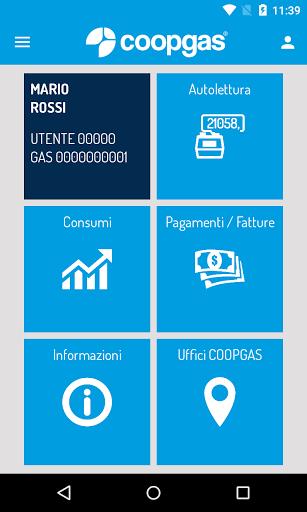 """COOPGAS è la nuova soluzione per gestire le proprie utenze direttamente in mobilità, senza il bisogno di accedere al PC.<p>Con COOPGAS è possibile:<br>• Inviare comodamente l'autolettura dal proprio Smartphone;<br>• Scaricare o visualizzare le proprie fatture;<br>• Modificare i Dati Anagrafici;<br>• Effettuare una richiesta di Cambio Recapito;<br>• Attivare o modificare il servizio """"Fattura Via Mail"""";<br>• Visualizzare i propri consumi con un comodo grafico;<br>• Ottenere indicazioni per lo…"""