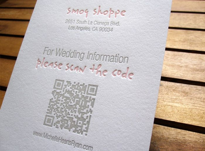 Ways To Save On Wedding Invitations: QR Code Makes Its Way To Your Wedding Invitation Insert