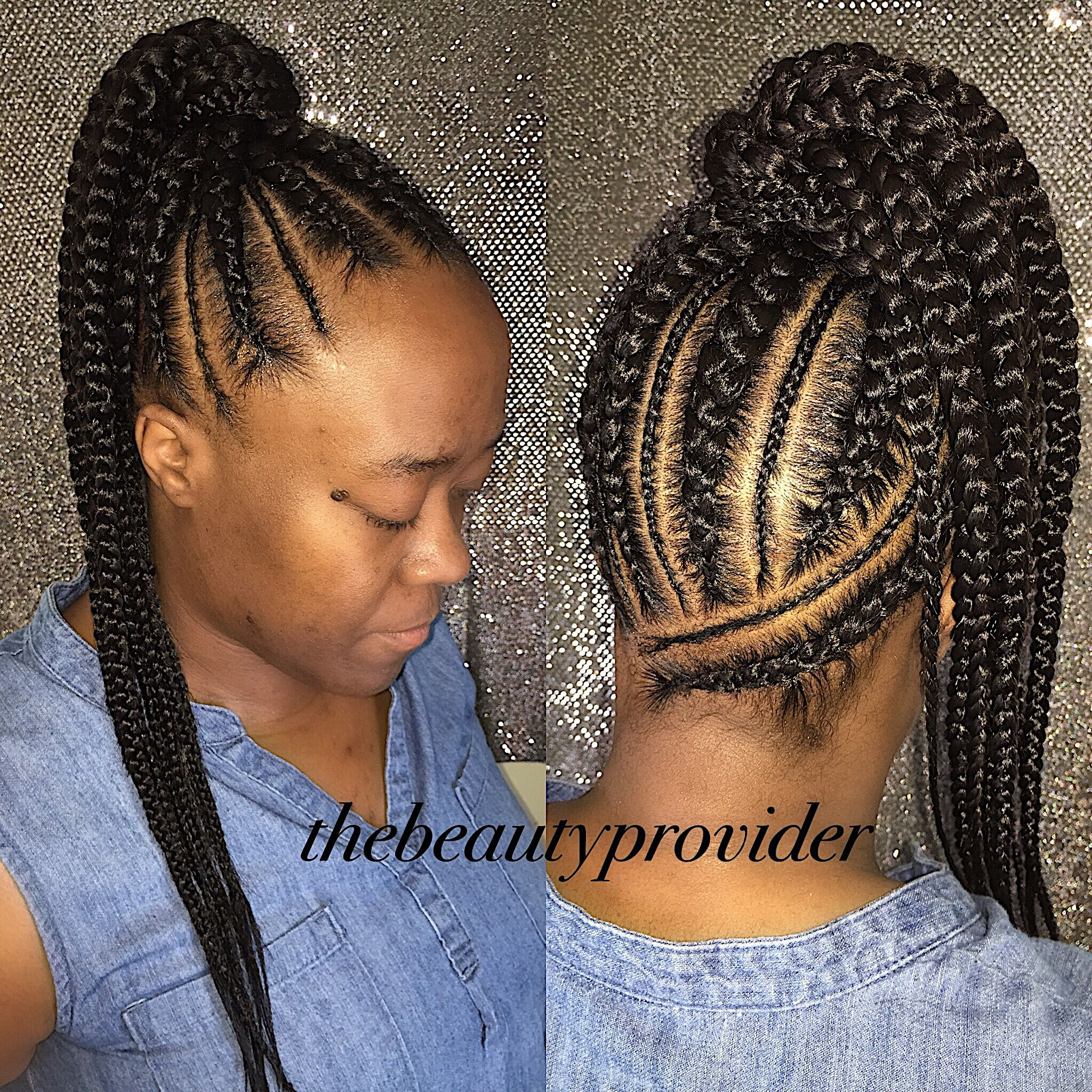 Dope Feed In Ponytail Ig Thebeautyprovider Jumbo Feedins Large Feed In Ponytail Braid Braided Ponytail Feed In Braids Ponytail French Braid Hairstyles
