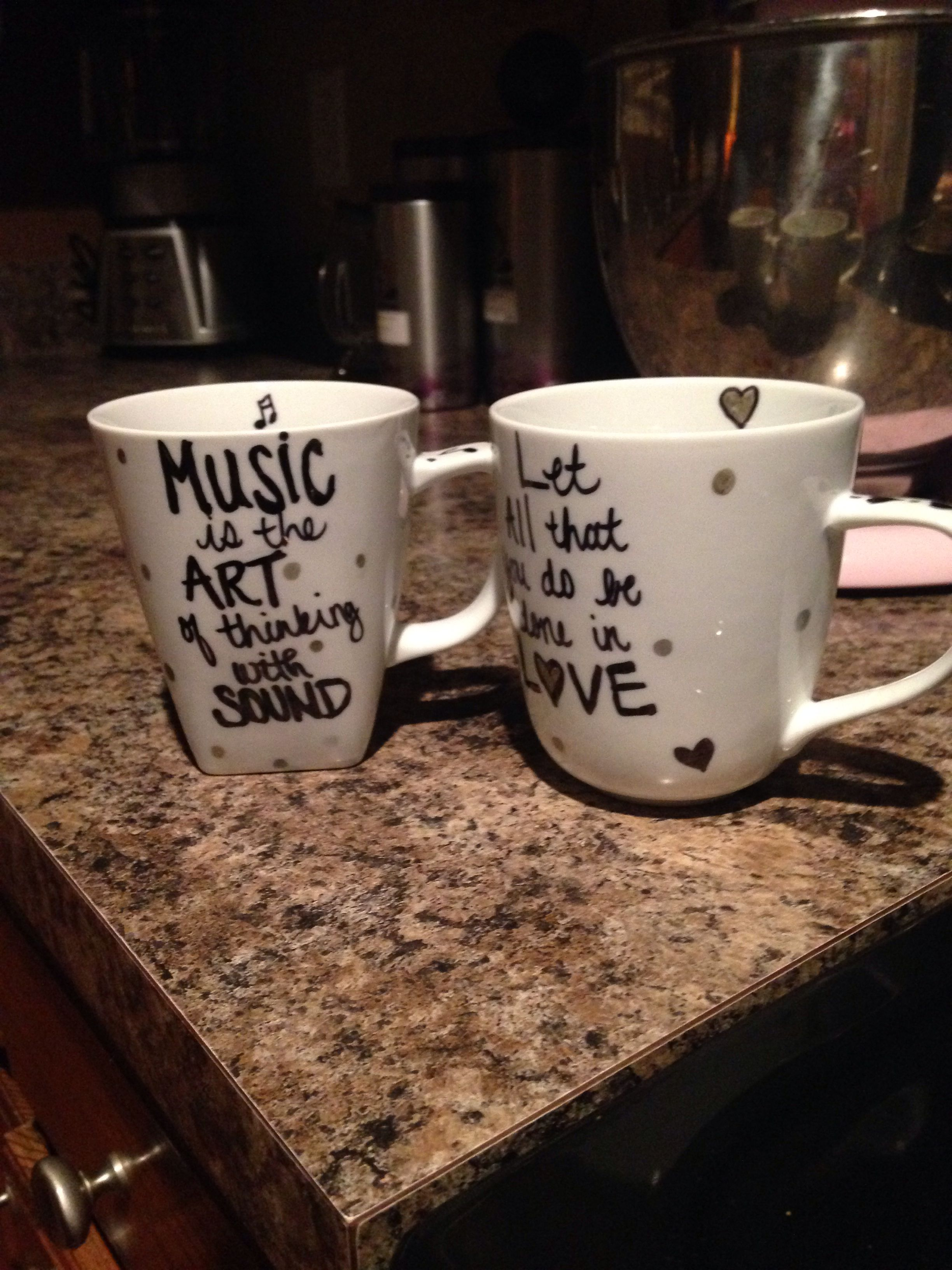 Inexpensive Mugs Diy Sharpie Mugs Cheap Mugs From Walmart 2 98 Each