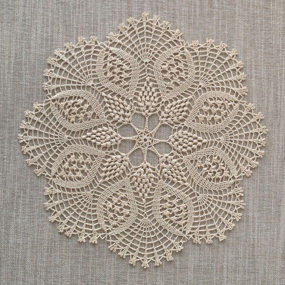 Gardenia Doily Crochet Doily Lace Doily Round By Kcraftsboutique