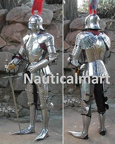 nauticalmart plate armour medieval larp full suit of armour gothic armor wearable costume halloween costume