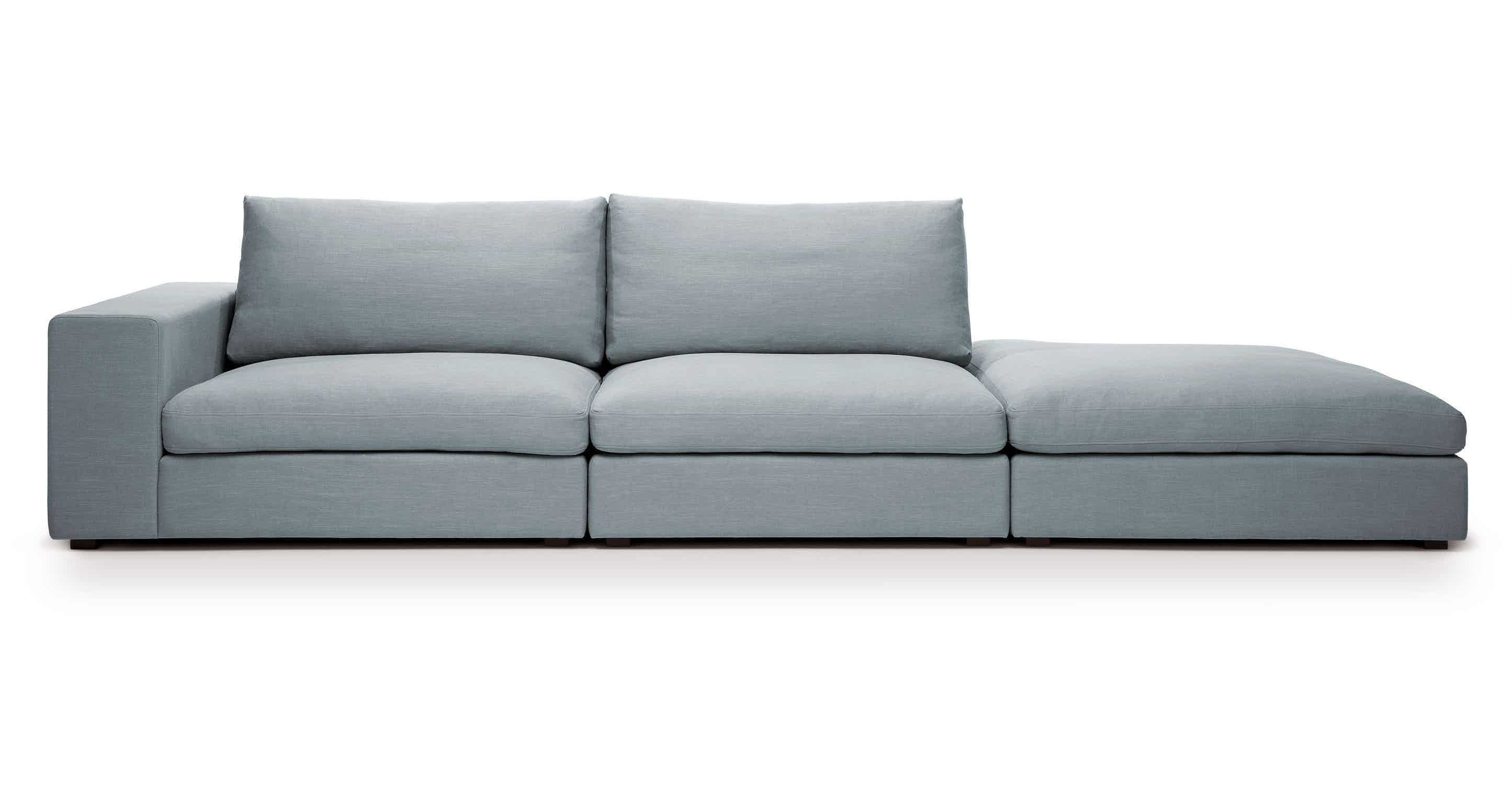 Foam Alternative To Rh S Cloud Cube Glacier Blue Modular Sofa