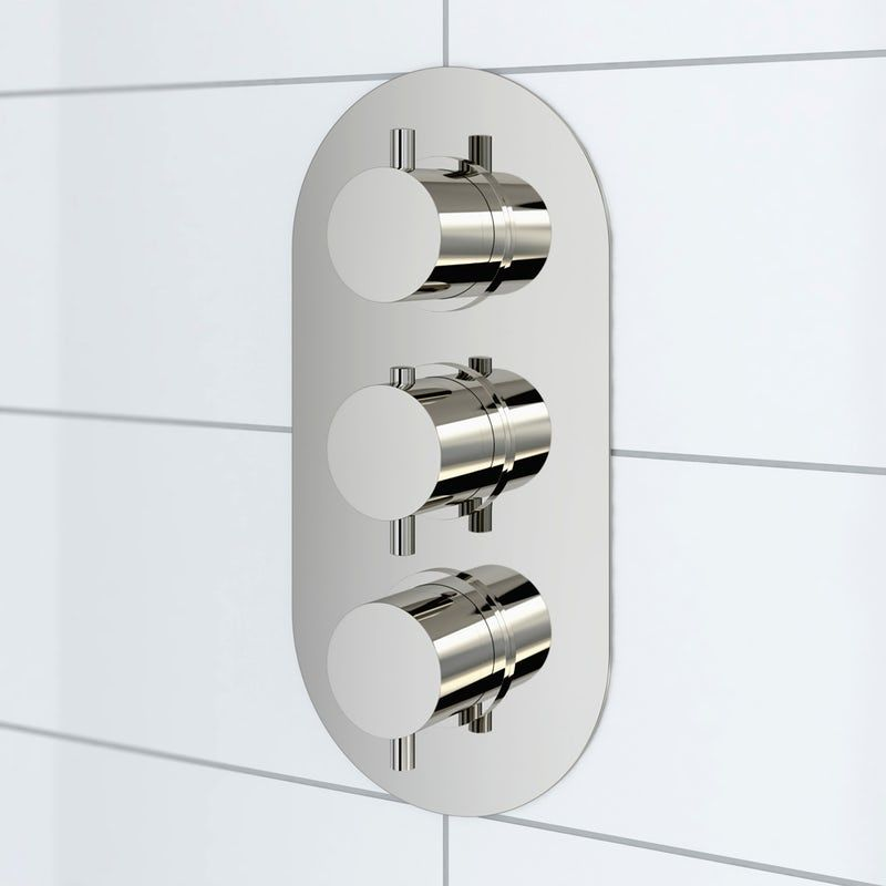 Mode Harrison Oval Triple Thermostatic Shower Valve With Diverter