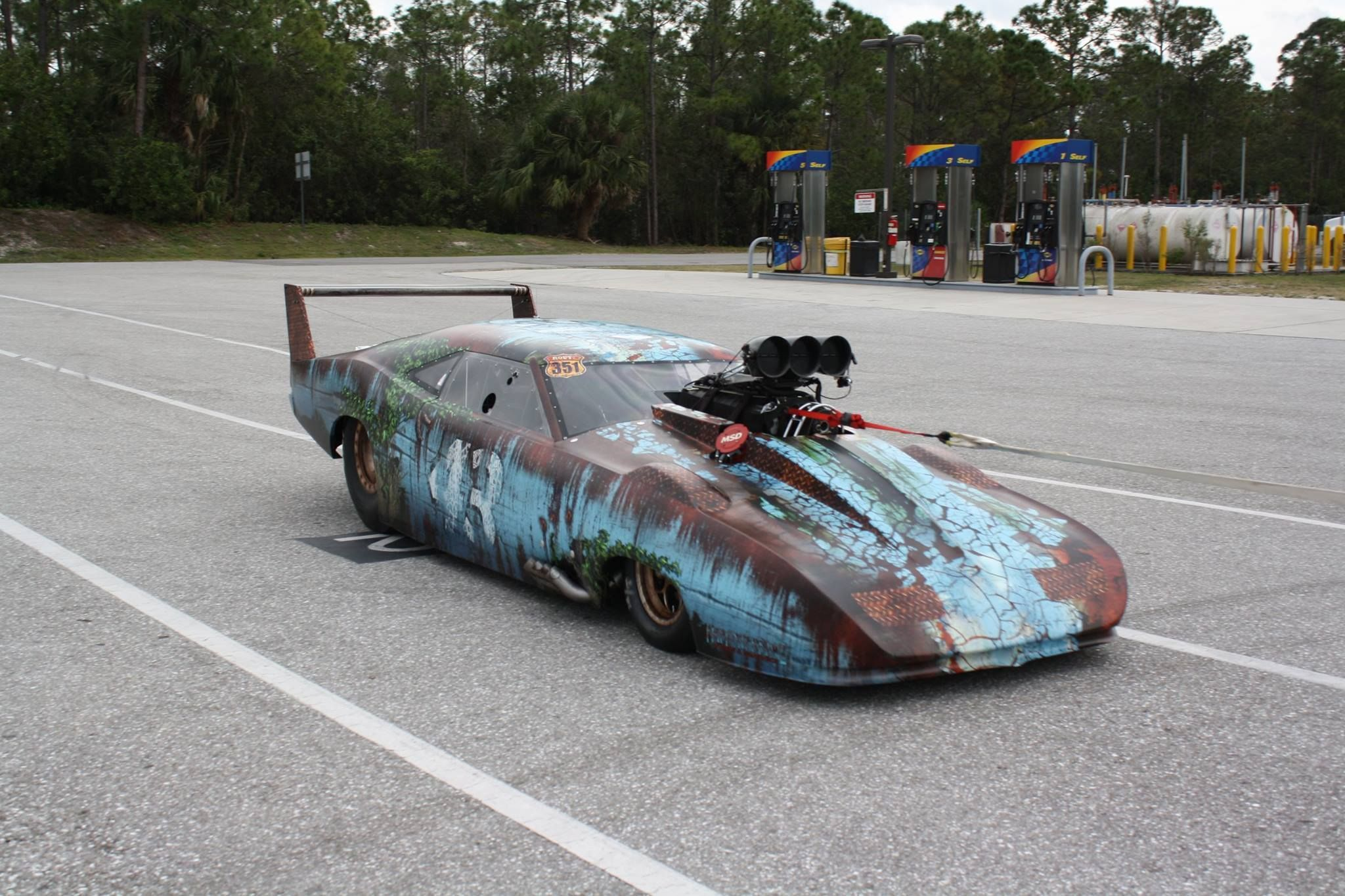 ProMod rat look! … (With images) Drag racing cars