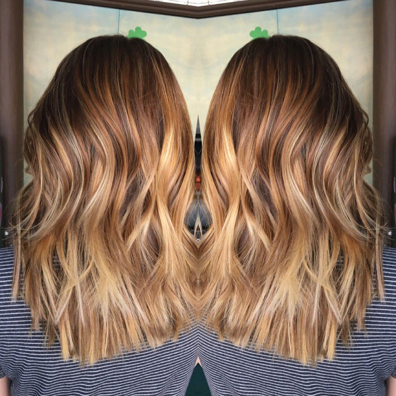 Carmel And Honey Color Melt Hair Ive Done Pinterest Hair