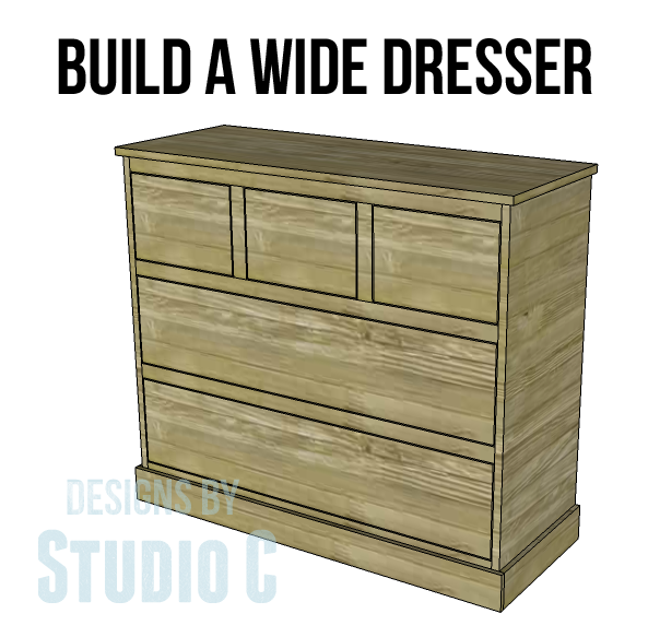 Use These Wide Chest Of Drawers Plans To Create Extra Storage Where It S Needed Most I Ve Previously Shared For The Tall And Here Are