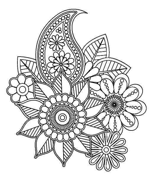 Twelve Ideas For How To Draw Simple And Cute Doodle Flowers To Decorate Bullet Journals Diy Cards And Flower Drawing Mandala Coloring Pages Mandala Coloring