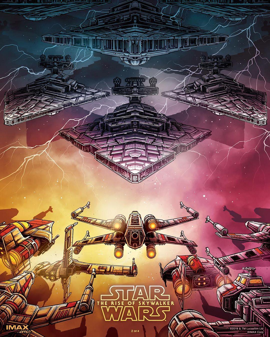 Star Wars The Rise Of Skywalker Star Wars Poster Star Wars Wallpaper Dan Mumford
