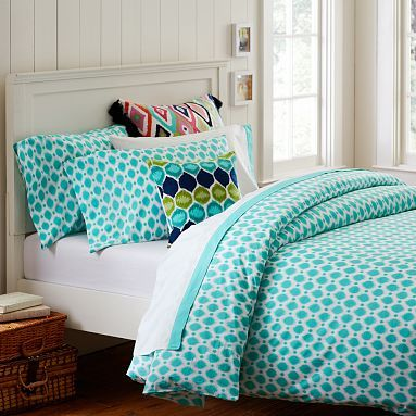 teal pillow case