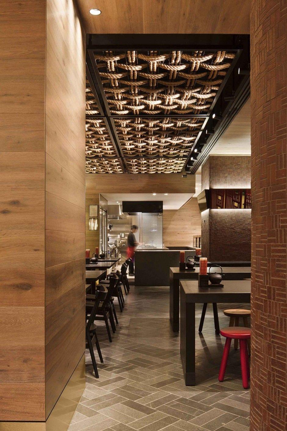 Ceiling detail gochi restaurant by mim design witness of