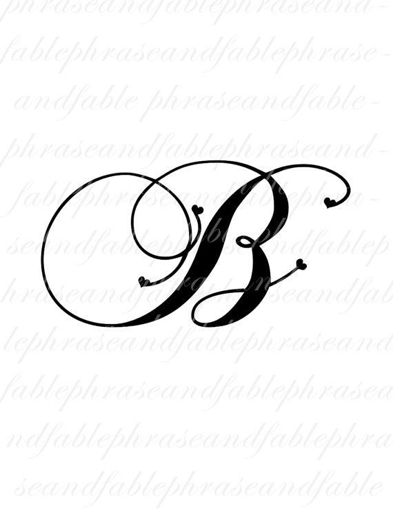 Image result for letter b tattoo fonts | Ink | Letter b tattoo