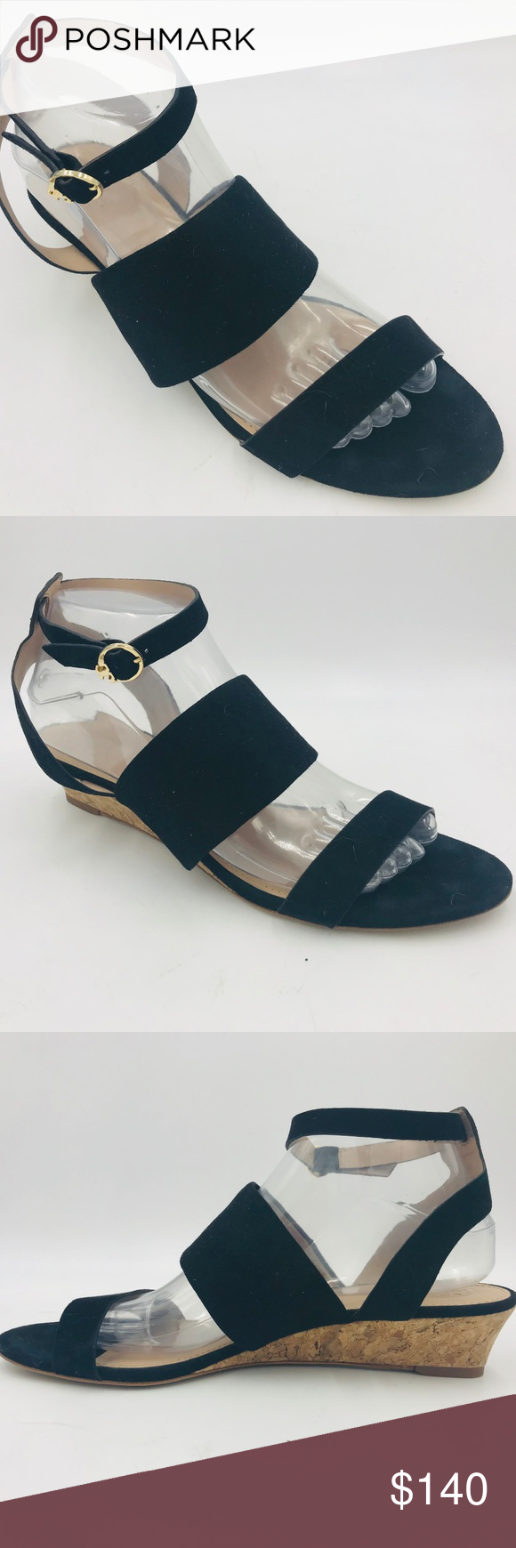 6fc17dbd5f5 TORY BURCH North Wedge Suede Leather Sandal EUC Excellent preowned  condition with no marks
