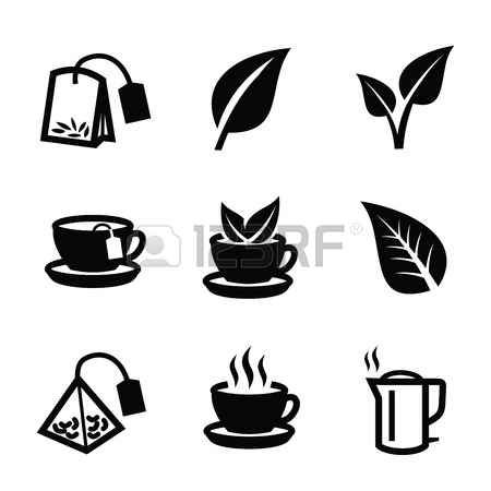 pictogram morning vector black tea icon on white background pictogram tea icon pictogram morning vector black tea