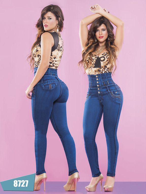 96b58c69a Butt Lifting Blue High Waisted Skinny Jeans