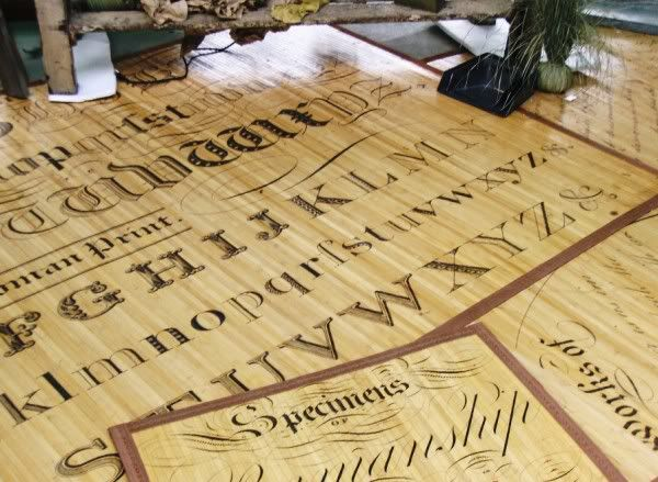 Bamboo Script Mats Here Is An Ortment Of The So