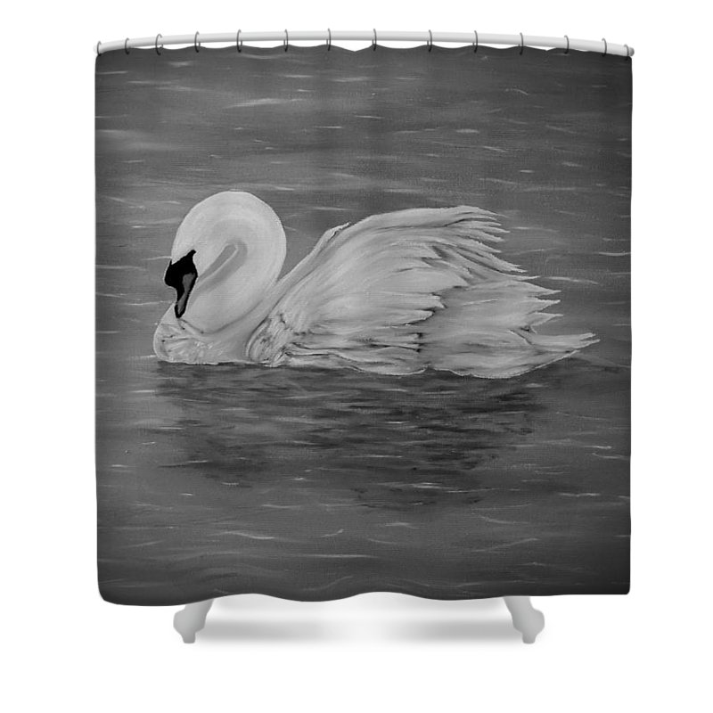 Lone Swan Shower Curtain For Sale By Faye Anastasopoulou In 2020 Fusion Art Colorful Backgrounds Curtains For Sale