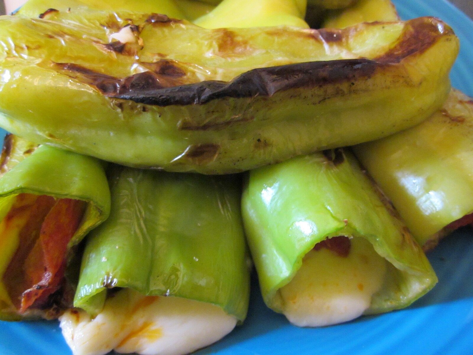 Stuffed And Grilled Cubanelle Peppers Stuffed Peppers Fresh Produce Recipes Cubanelle Pepper